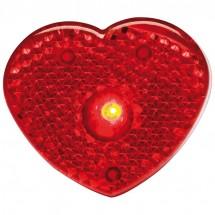 Knipperlampje, hartjes vorm - rood