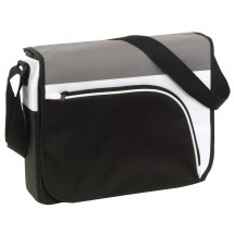 shoulder bag Narvik 600D,black/grey/wh