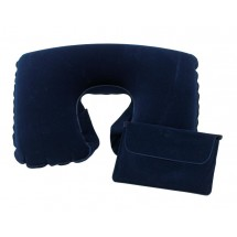 Travel pillow, infl.,Comfortable, blue