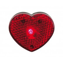 Heart flashing light Visible, red