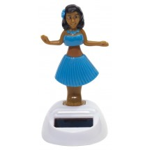Solar dancing girl Hula, blue