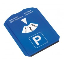 parking disc w/ ice scraper, blue/white