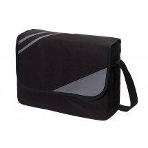 shoulder bag City 600D,black/grey