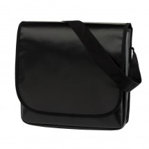 Shoulder Bag Clever PVC, black