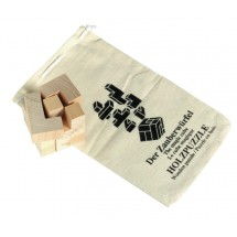 Wooden puzzle Crazy cube in cotton bag