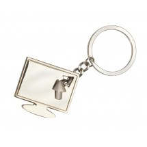 Metal keyholder Screen, silver