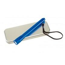 Aluminium torch w/ batteries, blue