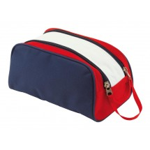 Toilet bag,600-D,Marina blue/white/red