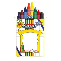 Wax crayons Imagine, 8pcs., small