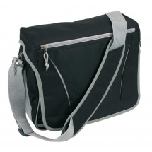Shoulder bag Africa 600D, black/grey