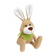 Plush rabbit Minna with green scarf