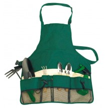 Garden Apron,green/beige Evergreen
