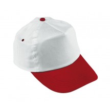 BASEBALL-CAP,COTTON,WHITE/RED Athlete