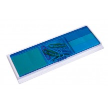 ruler Cool, white/transparent blue