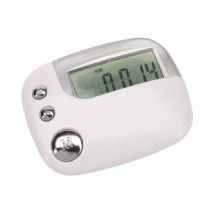 Pedometer RUN AWAY, white