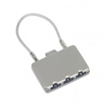 Combination lock Close metal, silver