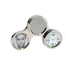 desktop clock Circle, silver