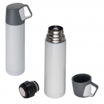 Thermosfles van RVS 500ml - wit