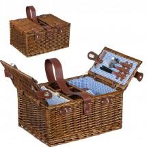 Picknickmand voor 4 personen - bruin
