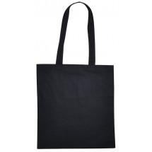 Cotton Bag Lang Hengsel Zwart acc. Zwart