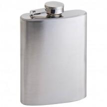 Heupfles metaal- 104 ml - grijs