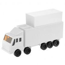 """Memobox """"vrachtwagen"""" - wit/wit"""