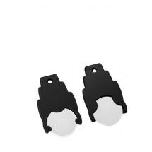 Winkelwagenmuntje 1 Euro in houder - wit/zwart