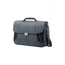 Samsonite XBR Briefcase 3 Gussets 15.6-Grijs/Zwart