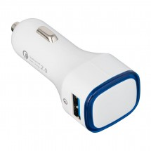 USB car charger QuickCharge 2.0® REFLECTS-COLLECTION 500 wit/blauw