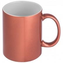 Metallic glanzende koffiemok - rood