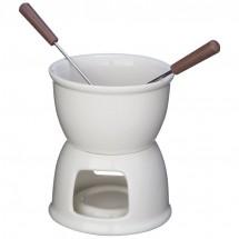 Fondue set voor chocolade - wit