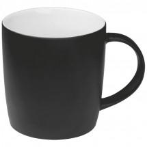 Drinkbeker met rubbercoating - zwart