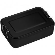 Lunchbox of broodtrommel van alumninium - zwart