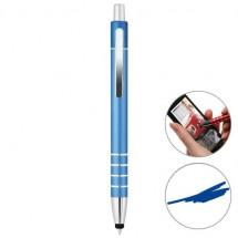Metalen touchscreen balpen - blauw