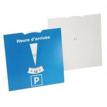 Kartonnen parkeerschijf Frankrijk - blauw/wit