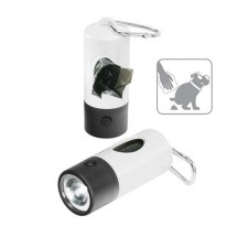 Zaklamp en dispenser, 1 LED (wit) - wit/zwart