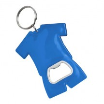 Flessenopener in shirtvorm - blauw