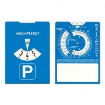 Kartonnen parkeerschijf - blauw/wit