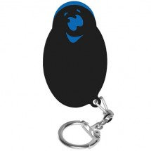"Winkelwagenmunthouder met 1-Euro-muntje ""Smiley"" - blauw/zwart"