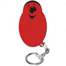 "Winkelwagenmunthouder met 1-Euro-muntje ""Smiley"" - zwart/rood"