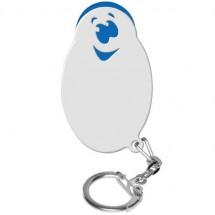 "Winkelwagenmunthouder met 1-Euro-muntje ""Smiley"" - blauw/wit"