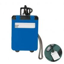 Kofferlabel - blauw