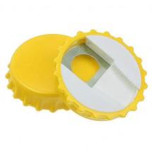 Flessenopener met afsluiter - geel