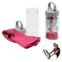 Microvezel Sporthanddoek - transparant/roze
