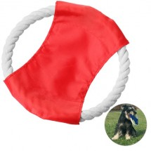 Hondenfrisbee - rood/wit