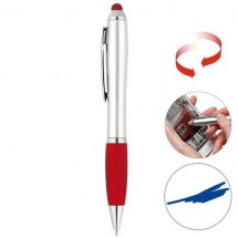 Touchscreen balpen - zilver/rood