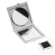 Zakspiegeltje - zilver/zwart