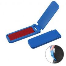 Pluisborstel met schoenlepel - blauw