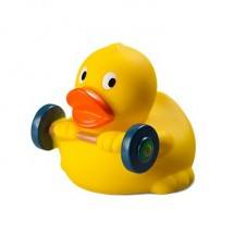 Badeend Gewichtheffer - geel