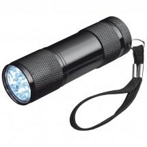 Aluminium zaklamp 9 LED - zwart